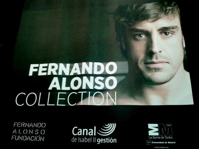 En la exposición Fernando Alonso Collection