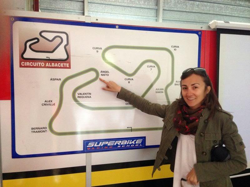 De paquete en el circuito de Albacete