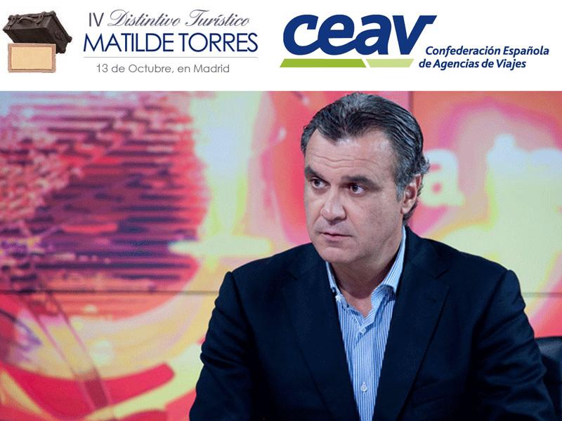 Rafael Gallego, presidente de CEAVnos adelanta la próxima entrega delIV Distintivo Turístico Matilde Torres