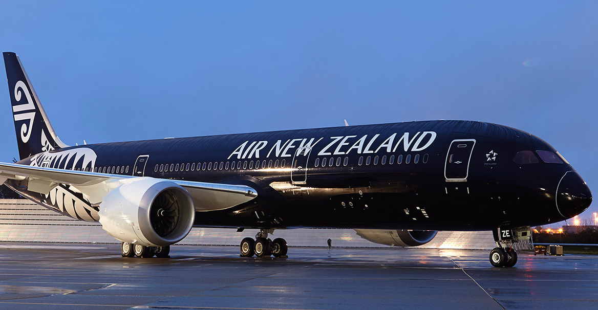 Avión de Air New Zealand