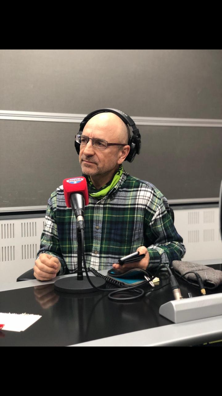 Joaquín del Palacio, en los estudios de Radio Marca