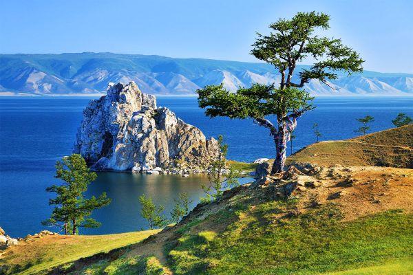 Lago Baikal, en Siberia