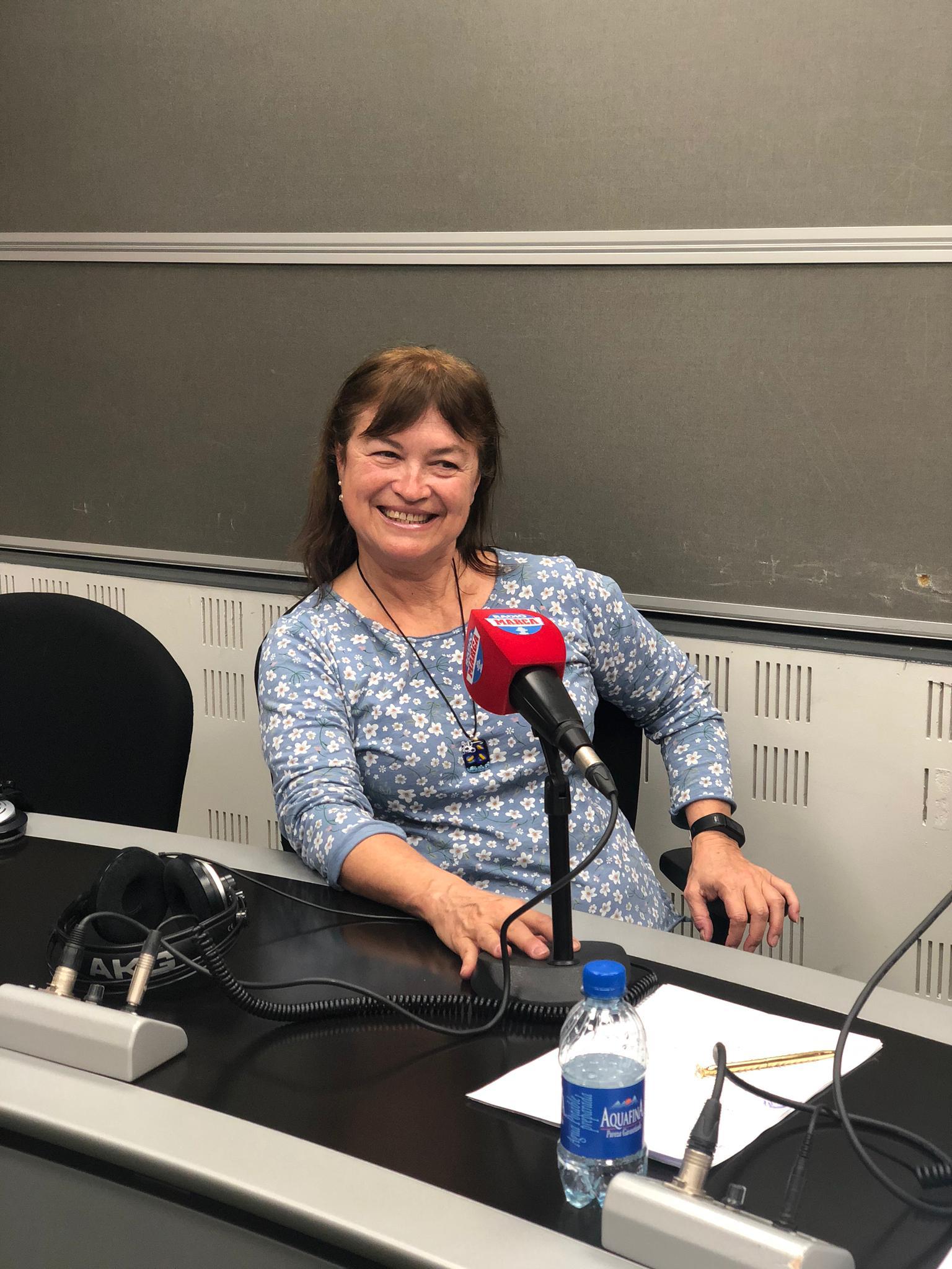 Mónica de Cossío, en el estudio de Radio Marca