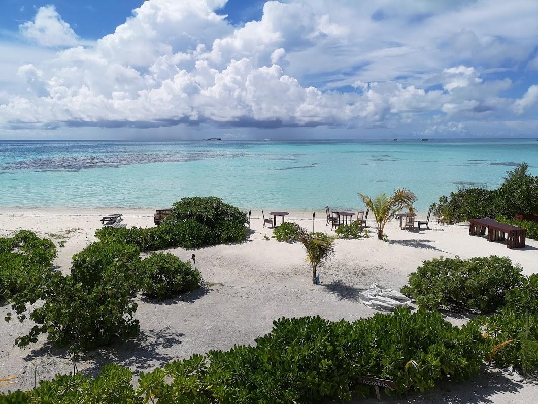 Playa de Dhiffushi, Maldivas.