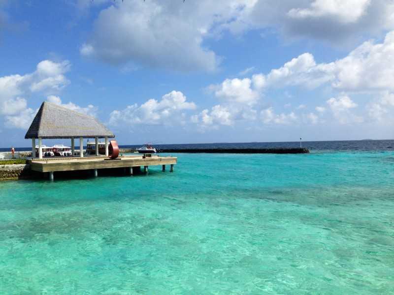 Playa paradisiaca de las Maldivas.