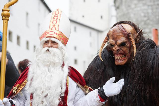 San Nicolás y su acompañante, protagonistas en Alemania durante la Navidad