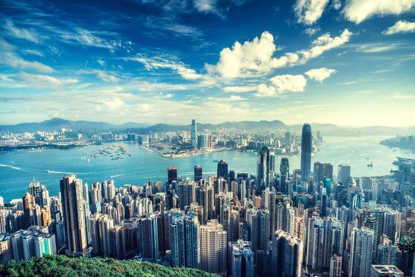 Vista aérea de Hong Kong