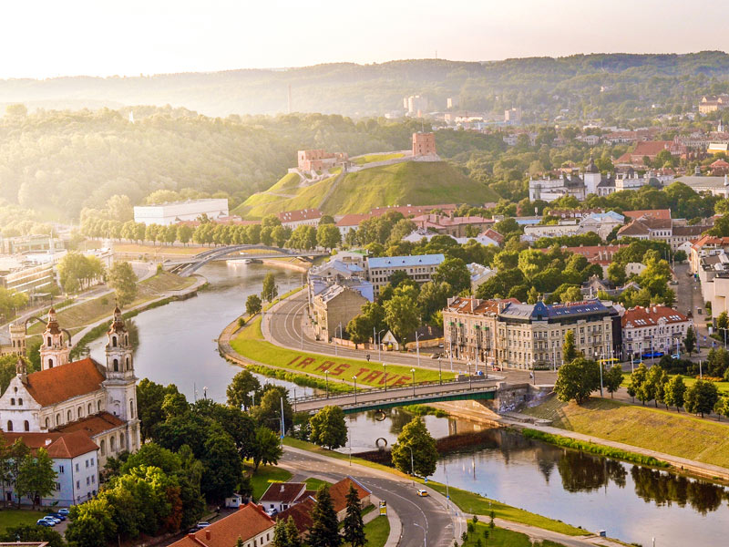 Vista aérea de Vilnius, capital de Lituania