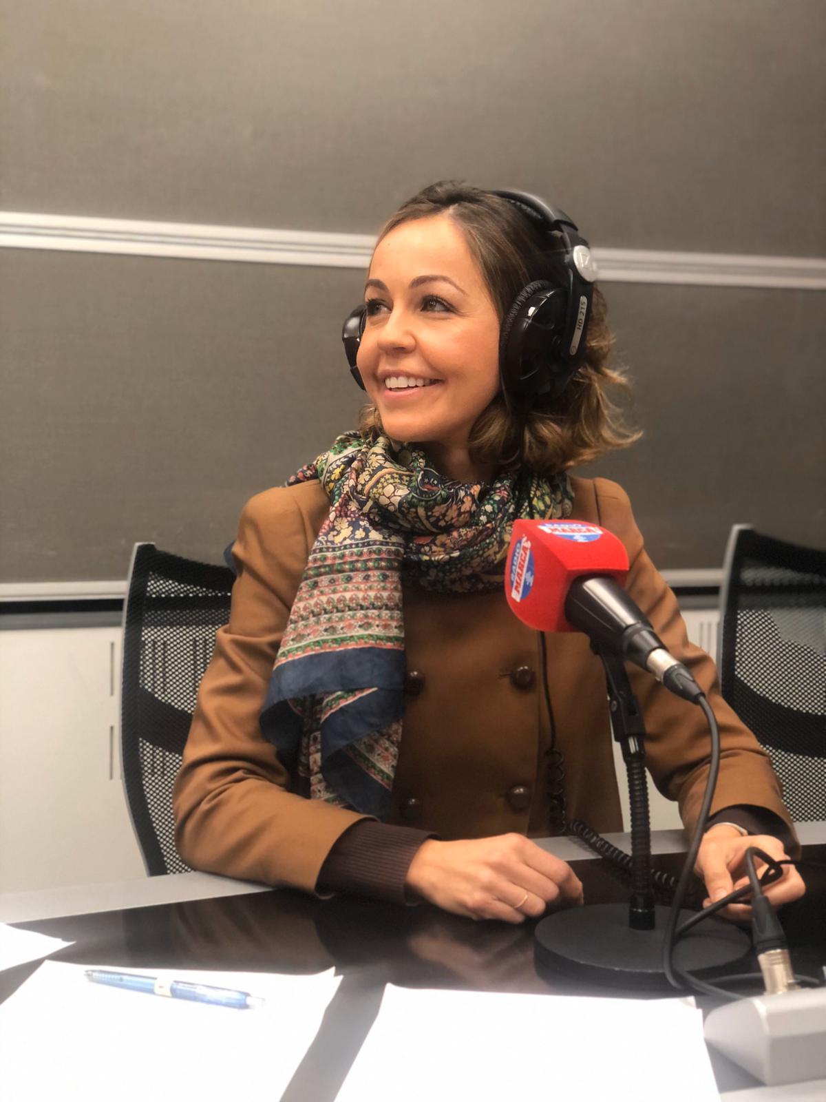 Beatriz Maristany, en el estudio de Radio Marca