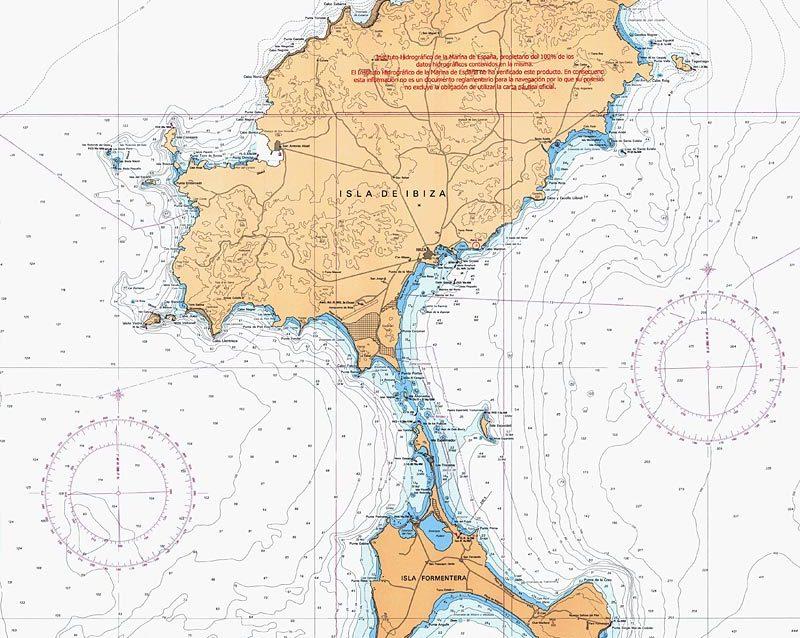 El paso entre Ibiza y Formentera es muy estrecho y de poco calado
