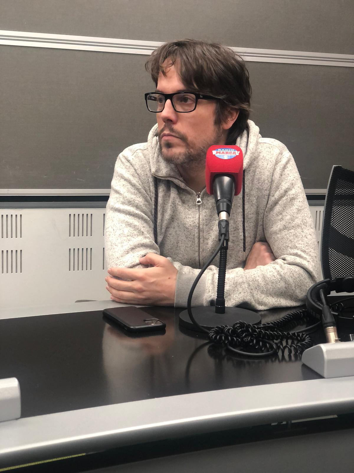 Iosu López, en el estudio de Radio Marca