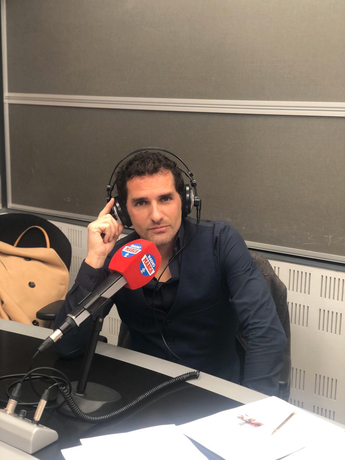 Julio de la Torre, en el estudio de Radio Marca