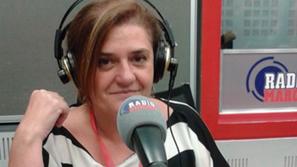 Lola Escudero, en los estudios de Radio Marca