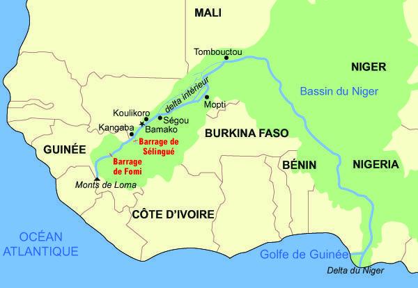 Mapa del río Níger