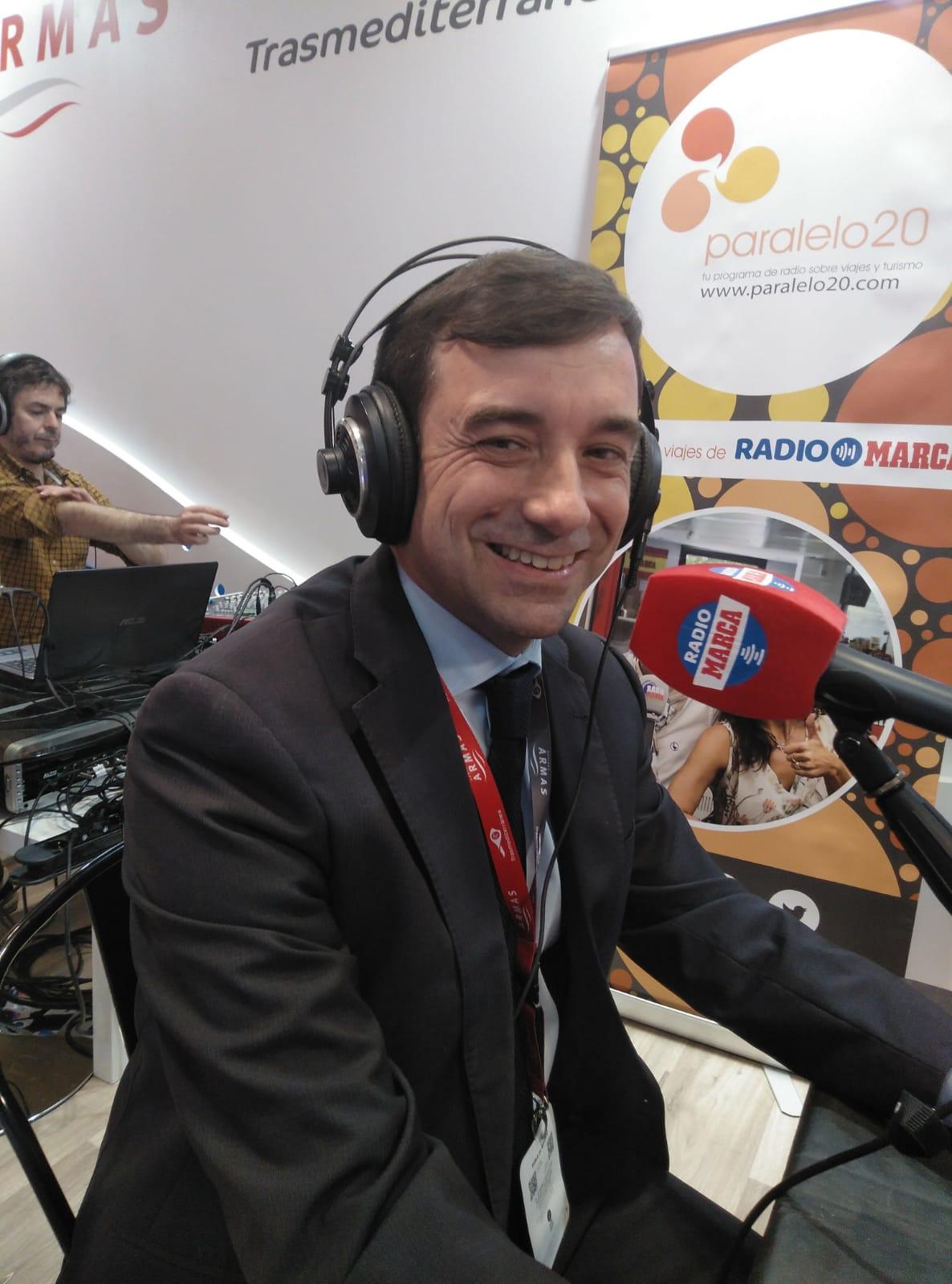 Miguel Pardo, director comercial de Armas Trasmediterránea