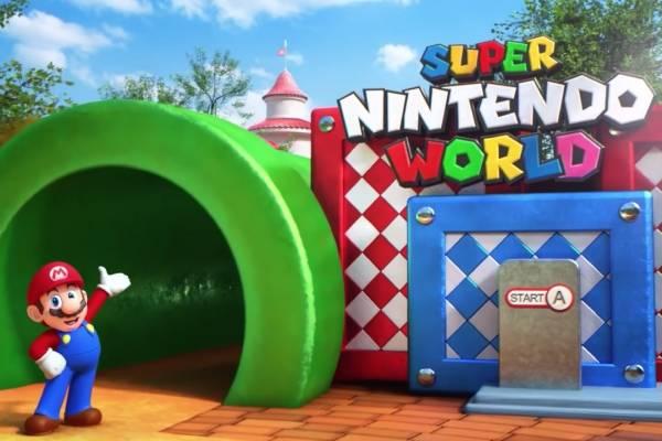 Recreación del parque temático Super Nintendo World, que abrirá este año en Osaka, Japón