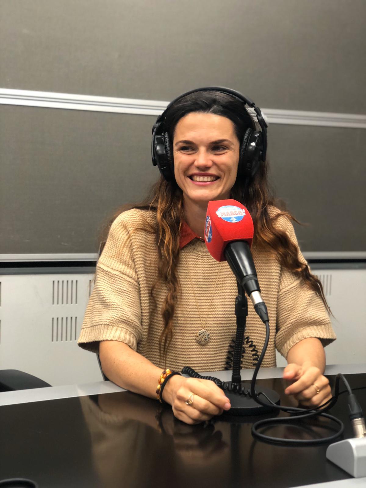 Silvia Romero, en los estudios de Radio Marca
