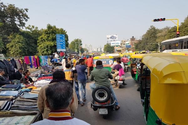 El tráfico es un caos en India