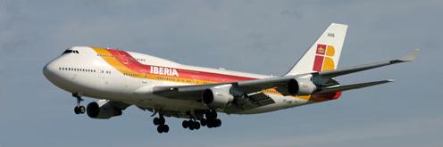 Modelo 747 Jumbo de Iberia
