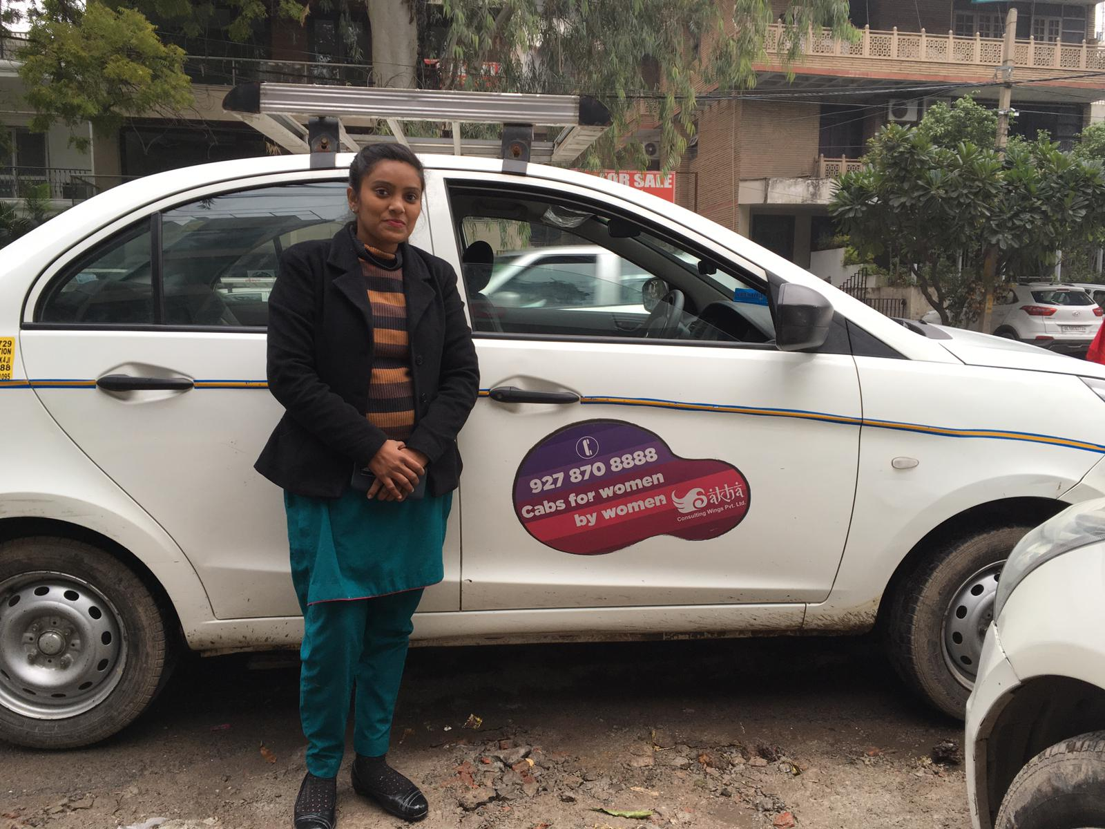 Taxista de Mónica en Delhi, India