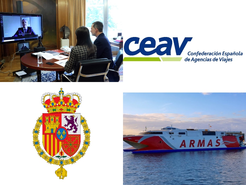 LOS REYES DE ESPAÑA, interesados por las AAVV españolas. ARMAS-TRASMEDITERRÁNEA, preparada para zarpar